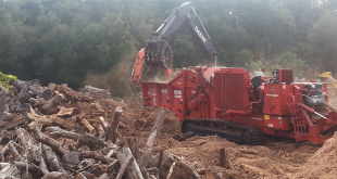 Wood Resource Recovery machinery grinds wood for delivery to Gainesville's biomass plant. Those deliveries ceased in 2015 when the company terminated its contract with GREC. (Courtesy: Wood Resource Recovery)