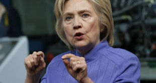 In this photo taken June 15, 2016, Democratic Presidential candidate Hillary Clinton  speaks in Hampton, Va. Clinton leads Republican Donald Trump by a margin of 47 percent to 39 percent in Florida's critical presidential contest, after being in a virtual deadlock last month, according to a poll released Tuesday by Quinnipiac University. . (AP Photo/Steve Helber)