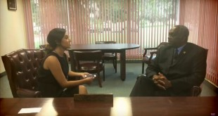 Marion County Interim Sheriff Emery A. Gainey talks with WUFT News' Brianda Villegas on Monday, June 6, 2016. (WUFT News).