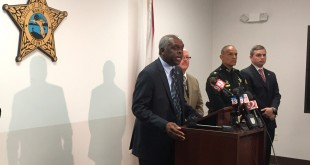 Marion County interim sheriff, Emery A. Gainey, addresses the media about the grand jury report on former sheriff, Chris Blair's, leadership culture that allowed for the excessive use of force by several of his deputies.