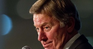Jul 15, 2014; Hoover, AL, USA; South Carolina Gamecocks head coach Steve Spurrier talks to the media during the SEC Football Media Days at the Wynfrey Hotel. (Marvin Gentry/USA TODAY Sports)