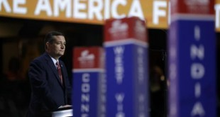 Sen. Ted Cruz, R-Tex., addresses the delegates during the third day session of the Republican National Convention in Cleveland, Wednesday, July 20, 2016. (AP Photo/Matt Rourke)