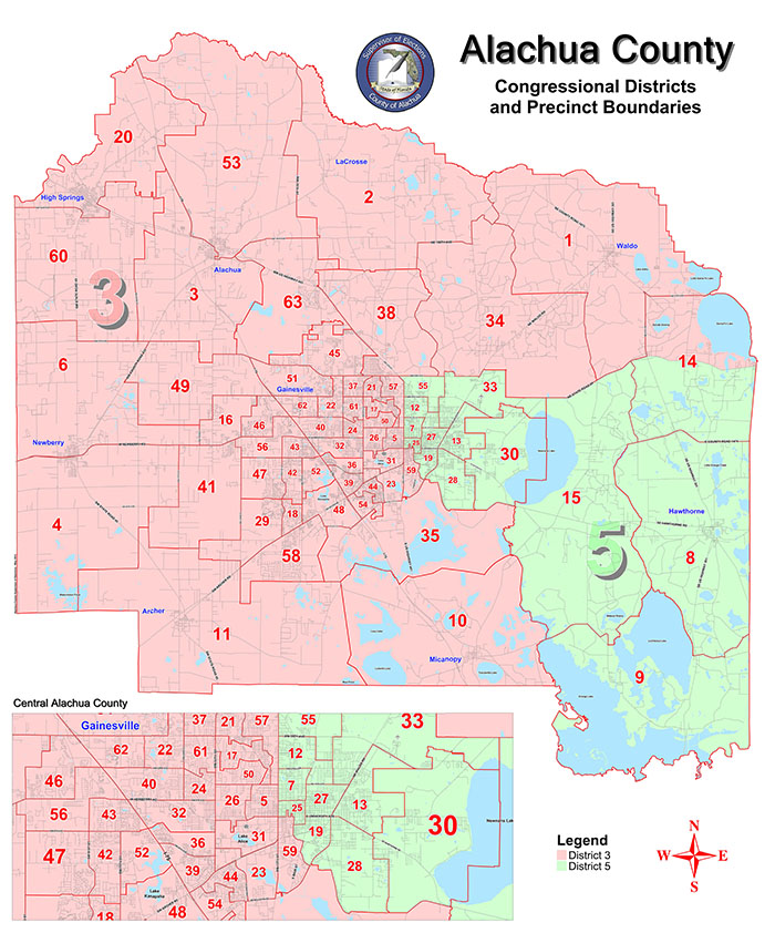 Gainesville S State And U S Congressional Districts As Of 2012