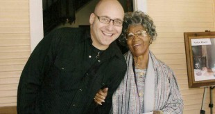 "Ken Block, lead singer of Sister Hazel, with ""Sister Hazel"" Williams. (Courtesy of Burt Wetherington)"
