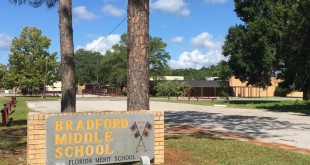 Bradford Middle School was closed on Monday after a 15-year-old student left a threatening voicemail directed at the school. (Daniel Smithson/WUFT News)
