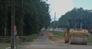 Sidewalk along Archer Braid Trail to be paved Wednesday, August 31 and cleaned up by following week as plans for road construction down Tower Road become approved for 2017 by the Board of County Commissioners. (Carolina LaFuente/WUFTNews)