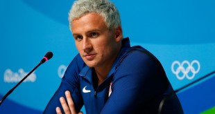 Ryan Lochte is back in the United States, his attorney tells NPR. Police in Rio want to speak to the swimmer about his claims of being a victim of a robbery.