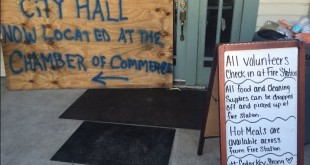 Cedar Key moved its city hall to the nearby chamber of commerce because of flooding. (Courtney Mims/WUFT News)
