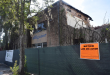 View of the façade of the old building during demolition, 9/9/2016. (Diana Illingworth/WUFT News)