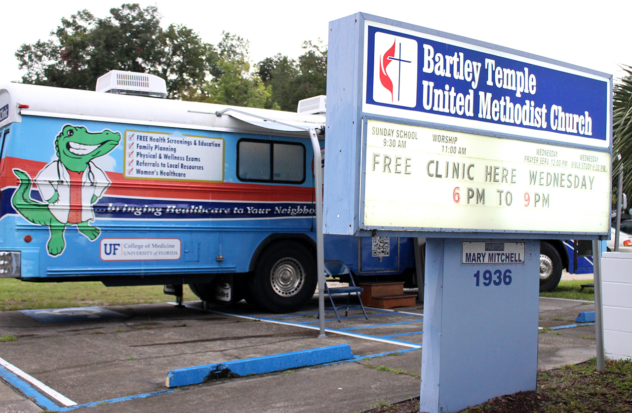 The Equal Access Clinic offers free clinic services Wednesdays at Bartley Temple United Methodist Church in East Gainesville. (Briana Erickson/WUFT News)