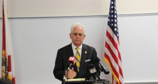 Ocala Mayor Kent Guinn discusses on Monday the allegations made against the city's police chief. (Mary Cobb/WUFT News)