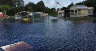 Flood waters from Hermine inundated a Levy County neighborhood eight miles from Cedar Key. (Briana Erickson/WUFT News)