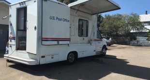 The mobile post office truck opened on Friday at 9:30 a.m at 518 2nd Street in the parking lot of the post office. The post office was unable to open after Hurricane Hermine due to water damage and mold.