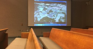 The 684-acre solar array was presented at the Alachua County Planning commission Wednesday in front of FPL employees, the board and the public.  (WUFT News/Victoria Todd)