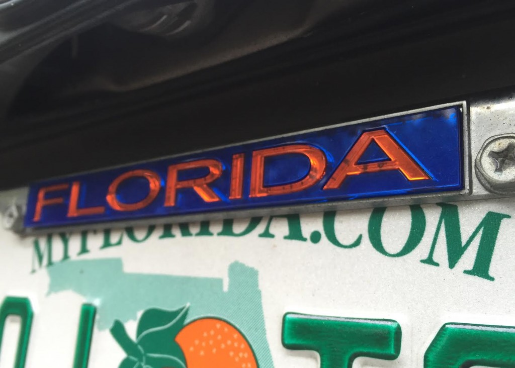 License Plate Frames Could Result in Traffic Citation, Fine – WUFT News