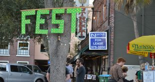 "The Fest, a music festival in downtown Gainesville, took place for the 15th year from October 28 to October 30. Curtis Grimstead, an accountant for the festival, said people keep coming back because ""it's a punk rock family reunion."" (Cecilia Mazanec/WUFT News)"