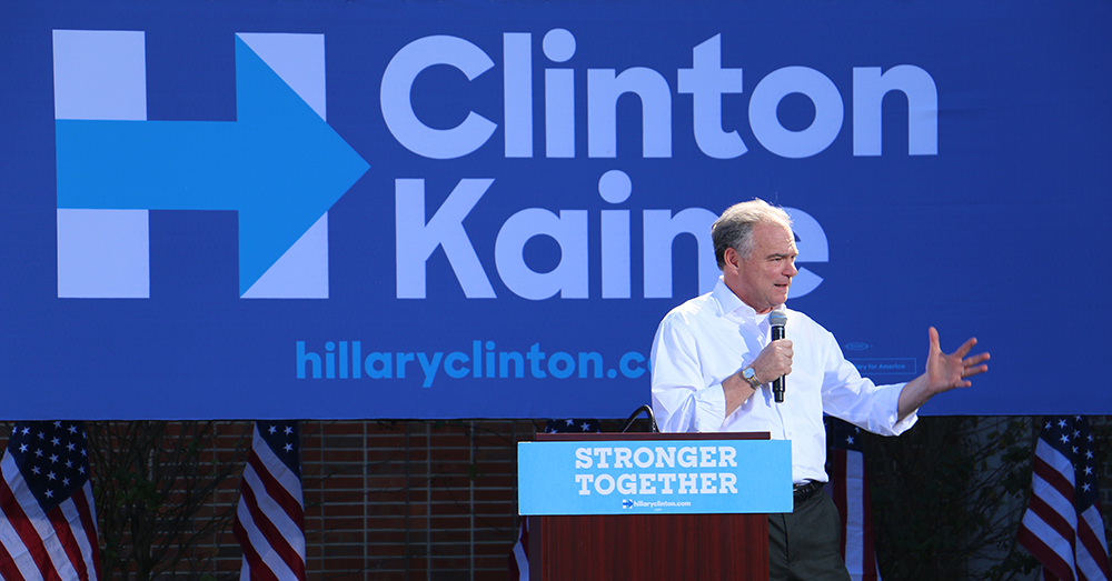 """Kaine said the campaign was focusing visiting on states with early voting -- Florida's early voting starts on Oct. 24, 2016. """"We can't take anything for granted,"""" Kaine said."""