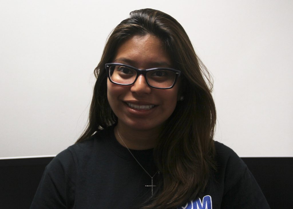 Maria Llanos is a third year political science and Spanish double major who was born in Guatemala and raised in a Cuban household. Llanos believes that by staying informed, young Latinos have the power to determine the direction the country is headed. (Daniela Prizont-Cado/WUFT News)