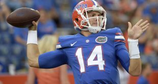 Florida quarterback Luke Del Rio warms up for the Sept. 17 against North Texas in Gainesville. For this weekend's game against Georgia, Del Rio will return to Jacksonville, where he spent many years as his father, Jack Del Rio, coached the Jaguars. (File/AP)