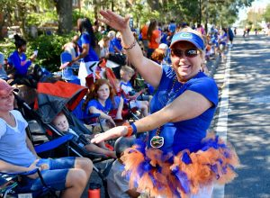 UF alumna Cheryl Granto has been attending the annual UF Homecoming Parade since 1984. (Grace King/WUFT News)