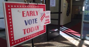 The entrance to the Alachua County Supervisor of Elections Office in downtown Gainesville on Monday at the beginning of early voting. Residents in many Florida counties have until Nov. 5 to vote early. (Ramsey Touchberry/WUFT News)