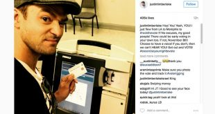 Justin Timberlake's ballot selfie sparked a legal discussion leading up to the election. Ballot-photo laws vary from state to state (image courtesy of CNN).