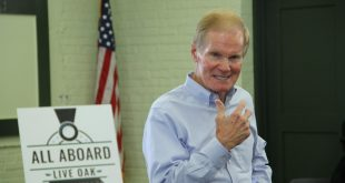 Sen. Bill Nelson D-FL talks about growing up in Florida and his experience as an astronaut during his visit to Live Oak on Friday morning. Nelson has promised his support for the city's efforts to become a train stop for Amtrak. (WUFT News/Jordanne Laurito)