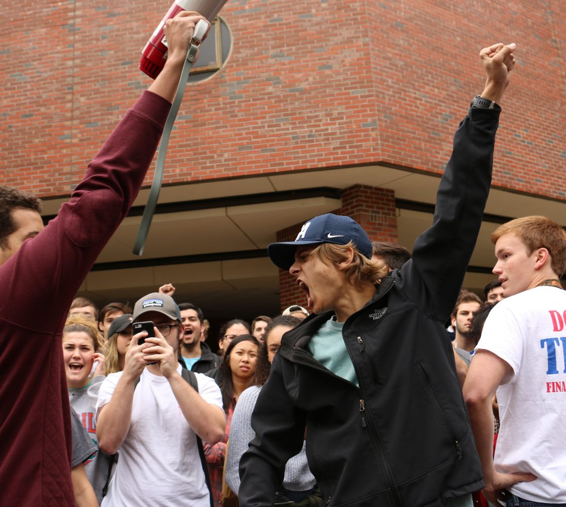 No Fascist Usa Trump Supporters Opponents Duel On Ufs Campus