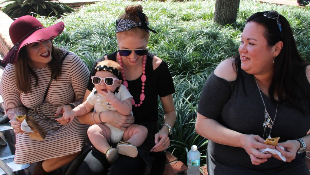 """This was Crystal Miner's first time at the festival, along with her 4-month-olddaughter, Sonny Lynn, and two of her friends, Danielle DeSouza and Sharon Kemp. """"I've never been to this festival before,"""" Miner said. """"It's been nice to enjoy this beautiful daywith my daughter."""""""