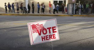 Voters line up at the Coral Ridge Mall,Tuesday, Nov. 8, 2016, at polling stations in Fort Lauderdale, Fla. (Joe Cavaretta/South Florida Sun-Sentinel via AP)