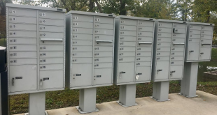 Mailboxes at a Gainesville apartment complex on Southwest 43rd Street. Some residents have complained about delayed and mis-delivered mail, damaged packages, and inaccurate tracking information. (Gabriela DeAlmeida/WUFT News)