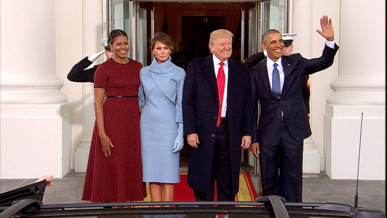 Obamas hosting Trumps at White house