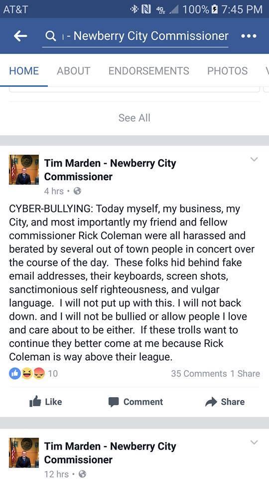 Tim Marden - Newberry City Commissioner