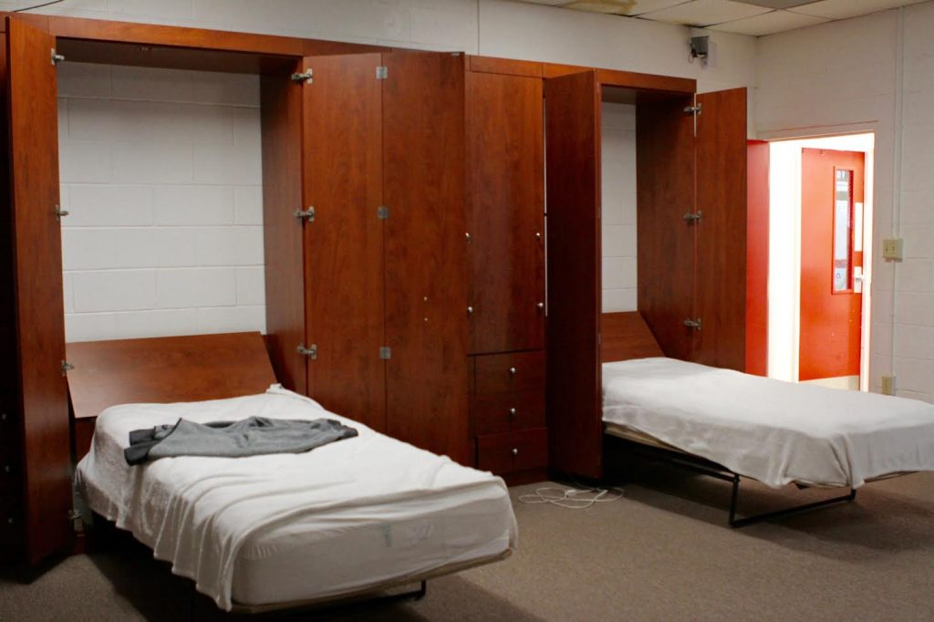 Sleeping Quarters For The Four On Duty Firefighters In The Newberry Fire  Department Reveal The