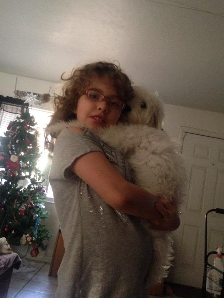 AnnaRose Van Sciver with her dog, Luna. AnnaRose says her favorite dance move is when she picks up her dog and dances with her. (Photo courtesy of Cean Van Sciver)