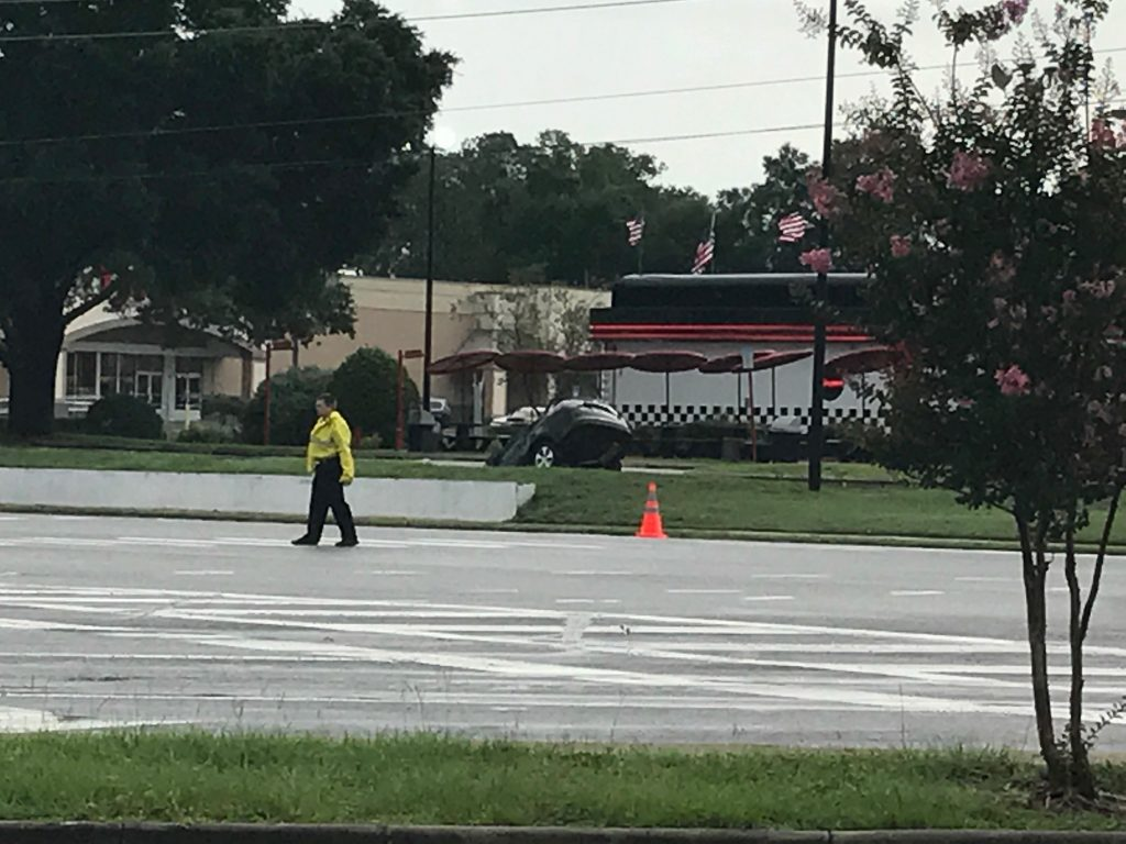 Sinkhole swallows vehicle in Ocala