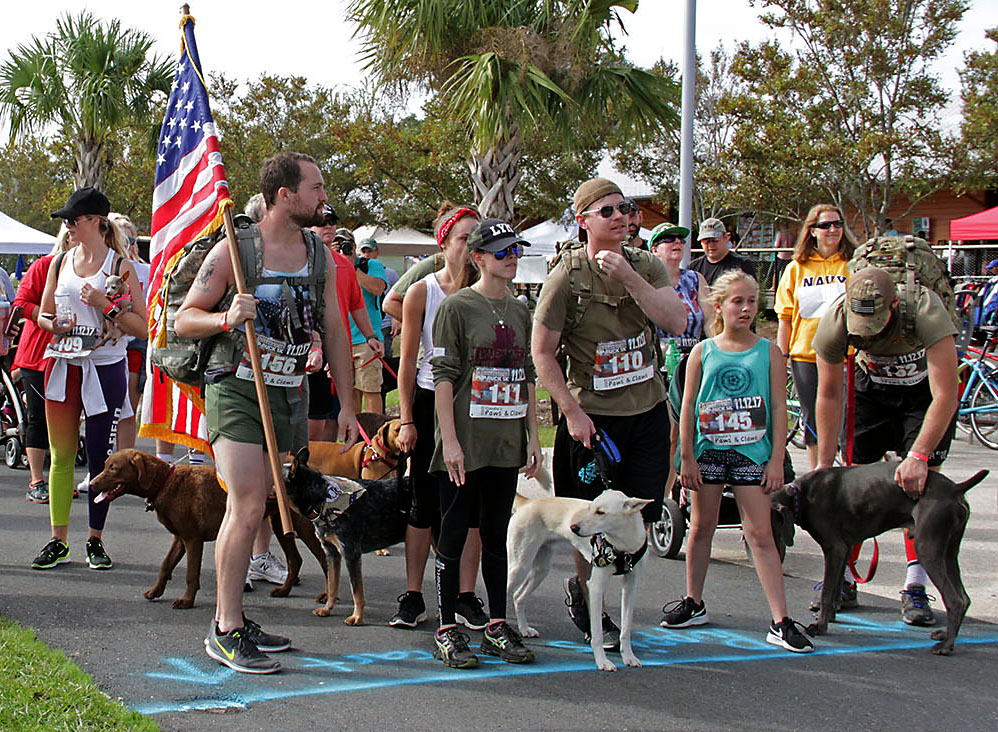 In Photos The Pets And Patriots Foundation Hosts Charity Pup Ruck 5k Run At Depot Park Wuft News