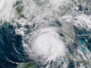 Aerial view of Hurricane Michael