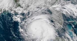 Aerial view of Hurricane Michael