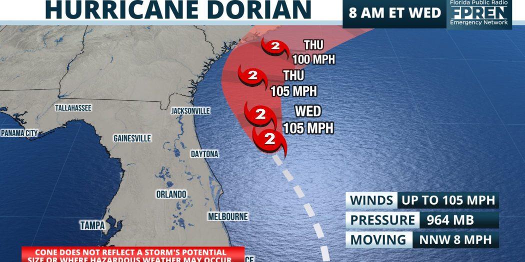Live Updates: Hurricane Dorian Continues To Weaken, Now Cat