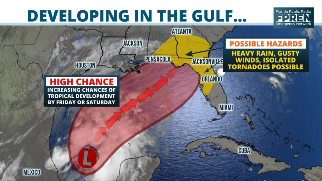 Chances Of Tropical Development Increasing Over The Gulf