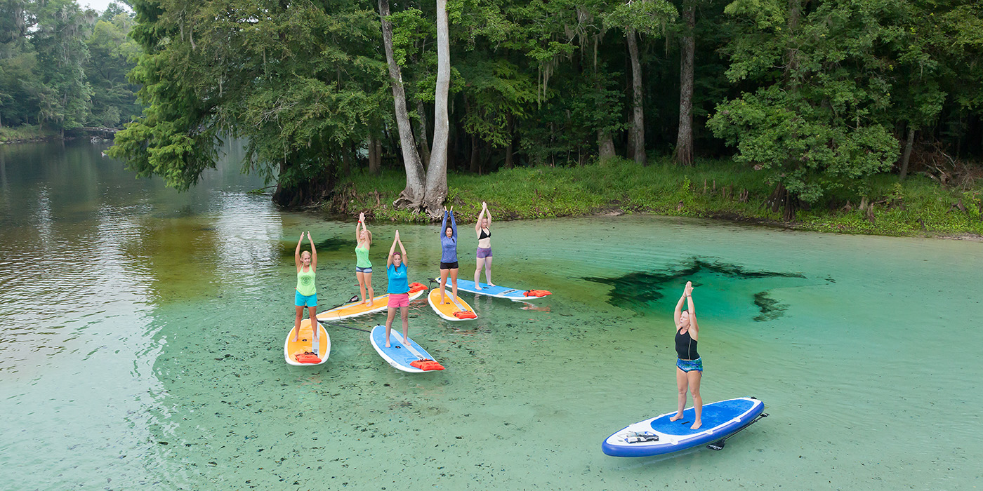 Stand Up Paddle Yoga at Rum Island Springs in 2015. (Photo courtesy of John Moran)