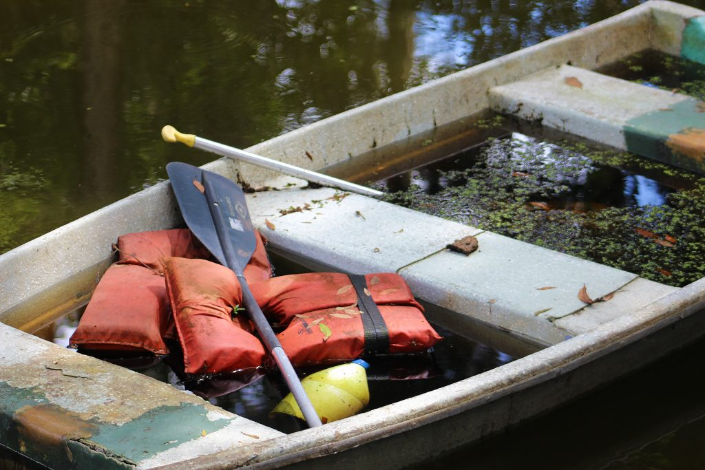 discarded boat In: More of the same and close to home | Our Santa Fe River, Inc. (OSFR) | Protecting the Santa Fe River in North Florida