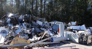 metal scraps are piled up at the Leveda Brown Environmental Park and Transfer Station.