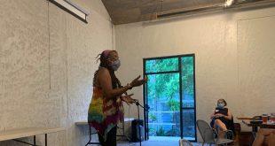 Nkwandah Jah talks about gentrification at Cypresss and Grove Brewing Company.