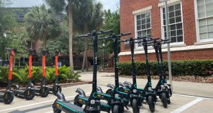 UF's electronic scooters.