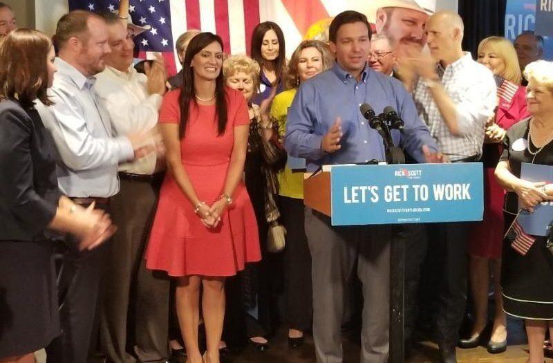 Gov. Ron DeSantis and Lt. Gov. Jeanette Nunez during a 2018 campaign event.