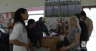 Clients gather at GRACE Marketplace, the assistance center for the homeless in Gainesville. The center has barely raised $3,000 of a $25,000 goal for funding to place more people in permanent housing. The fundraising deadline ends Feb. 17 (WUFT News)