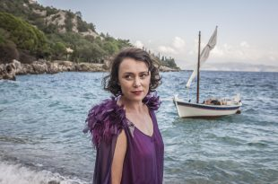 The Durrells in Corfu MASTERPIECE on PBS  Episode Four Sunday, November 6th at 8pm ET Leslie gets thrown out of the house and ends up in court. Theo and Spiros are his attorneys. Margo settles into her new job—and a new dress. Louisa has more man trouble.  Shown: Louisa Durrell (KEELEY HAWES)  Courtesy of Sid Gentle Films 2016 & MASTERPIECE  For editorial use only in conjunction with the direct publicity or promotion of this program for a period of three years from the program's original broadcast date, unless otherwise noted. No other rights are granted. All rights reserved.