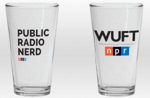 WUFT NPR Public Radio Nerd Pint Glass